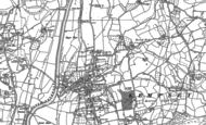Old Map of Kempsey, 1884