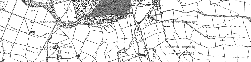 Old map of Kempton in 1883