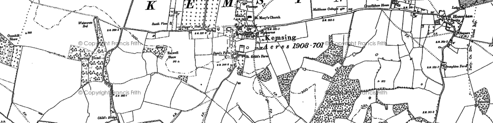 Old map of Kemsing in 1895