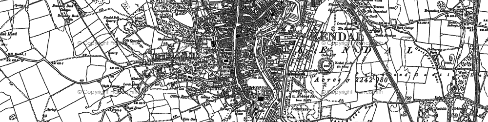 Old map of Kendal in 1896