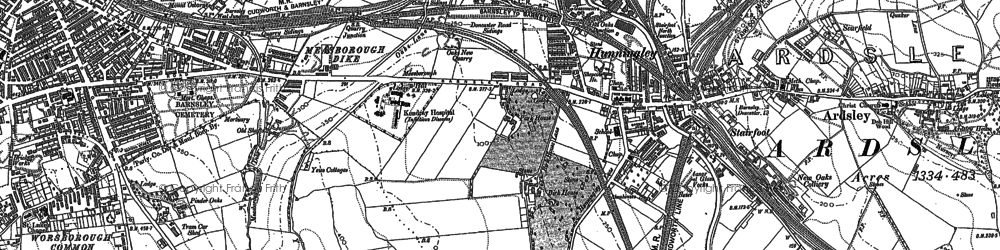 Old map of Kendray in 1851