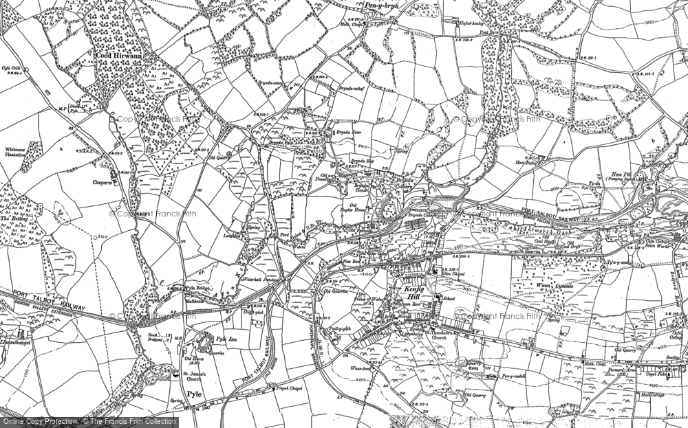 Old Map of Kenfig Hill, 1897 - 1914 in 1897
