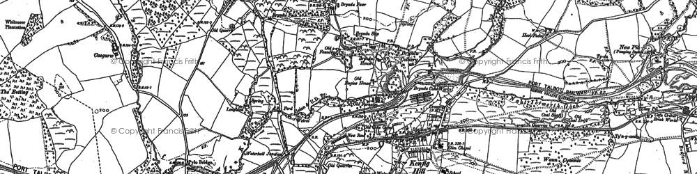 Old map of Kenfig Hill in 1897