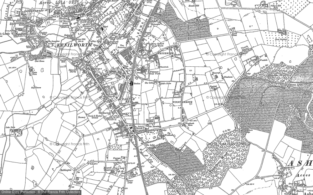 Old Map of Historic Map covering Whitemoor in 1886