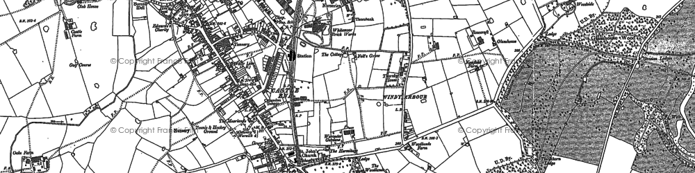 Old map of Windy Arbour in 1886