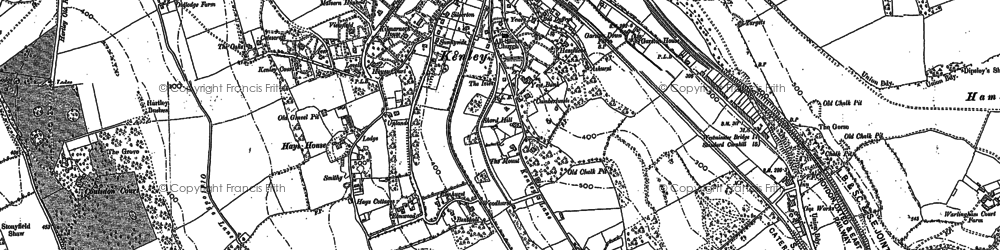 Old map of Kenley in 1894