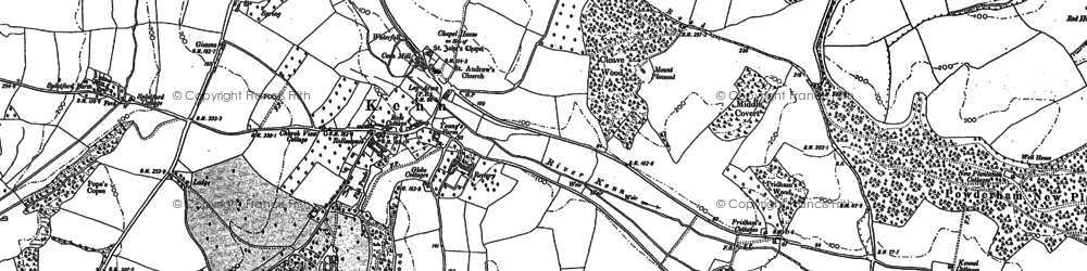 Old map of Whitcombe in 1888