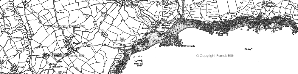 Old map of Gwenter in 1906