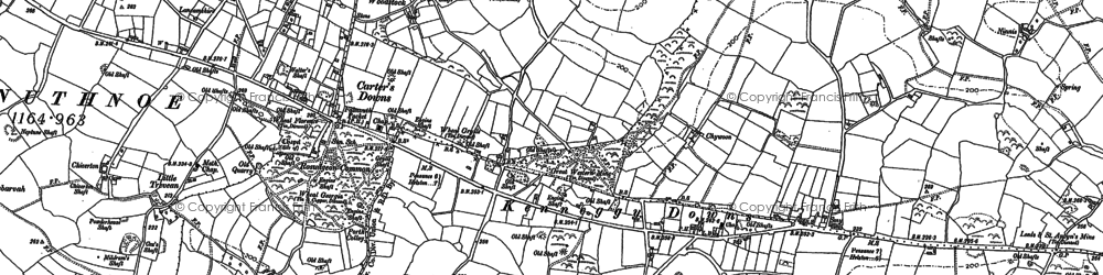 Old map of Kenneggy Downs in 1907
