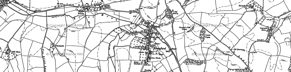 Old map of Kennford in 1888