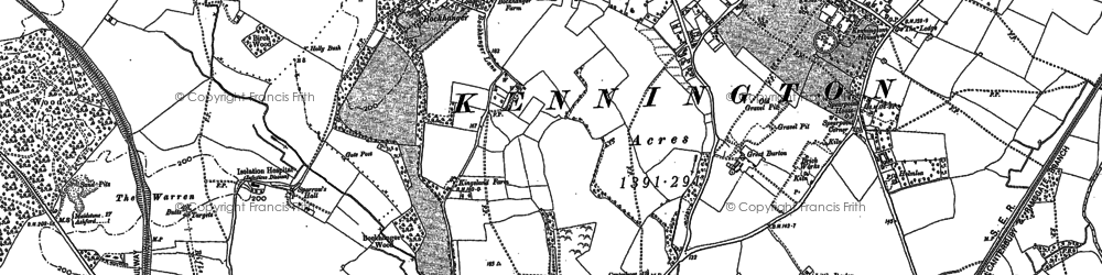 Old map of Kennington in 1896