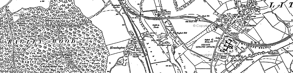 Old map of Bagley Wood in 1910