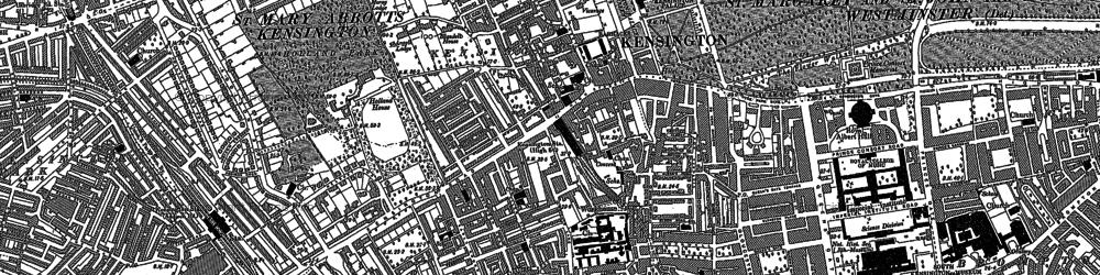 Old map of Kensington in 1893