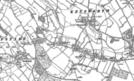 Old Map of Kensworth, 1900
