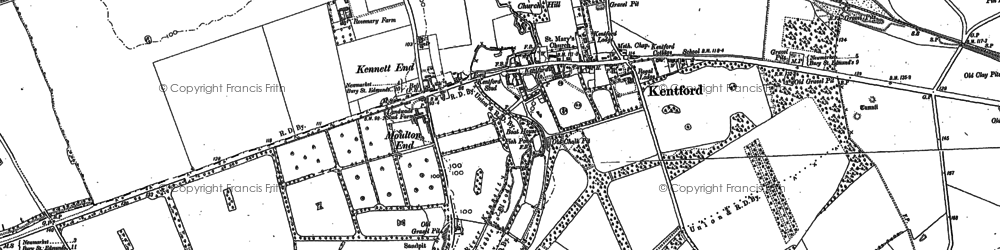 Old map of Lanwades Park in 1881