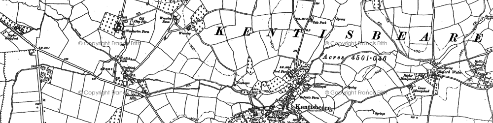 Old map of Wressing in 1887