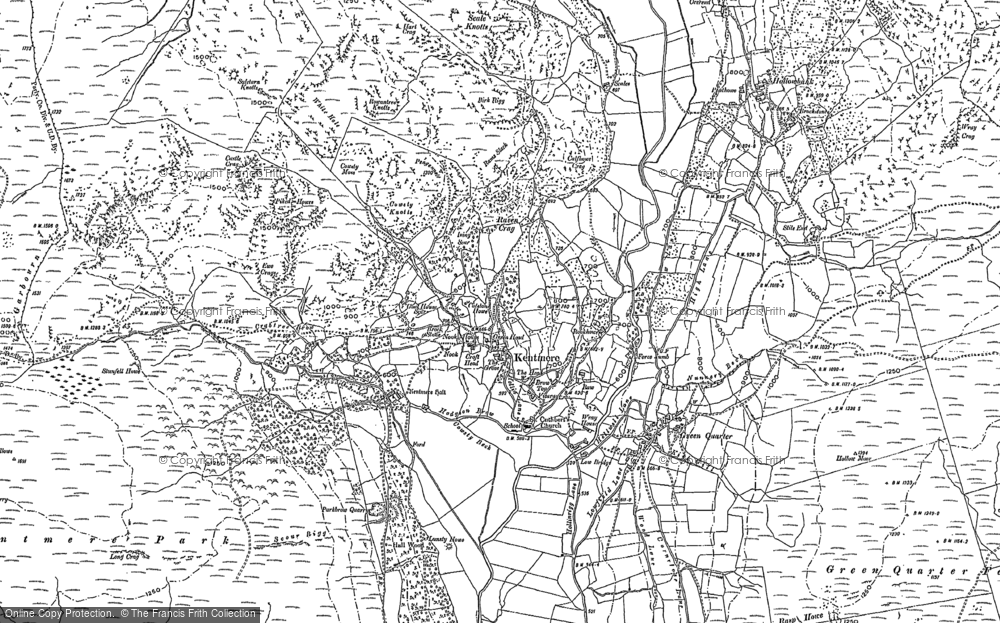 Old Map of Historic Map covering Tongue Ho (ruin) in 1897