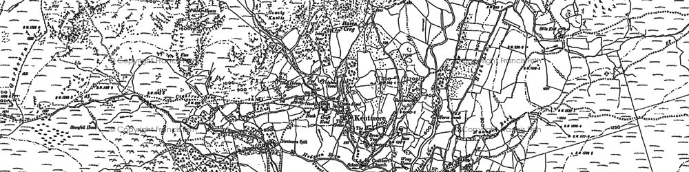 Old map of Tongue Ho (ruin) in 1897