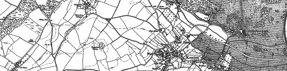Old map of Kenton in 1888