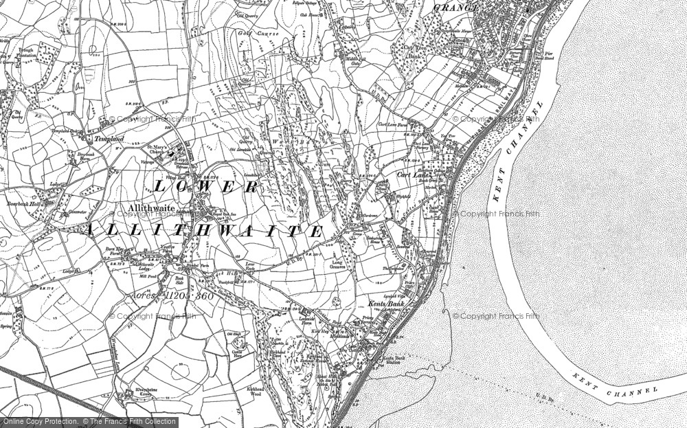 Old Map of Historic Map covering Abbot Hall in 1847