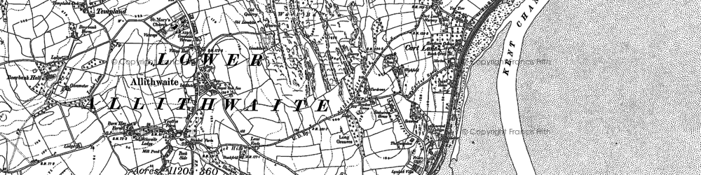 Old map of Kents Bank in 1847