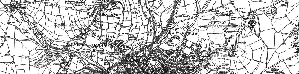 Old map of Kenwyn in 1879