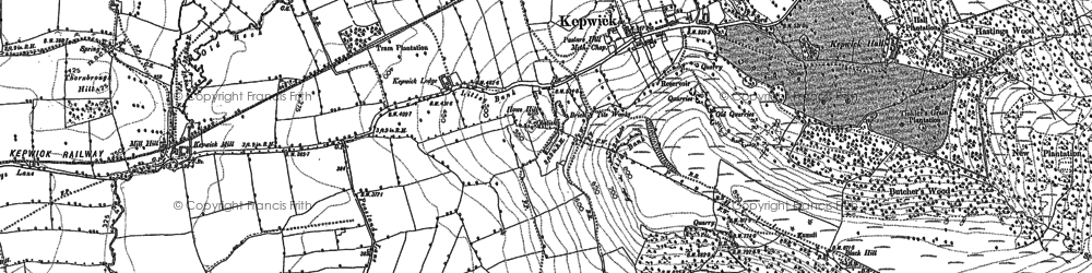 Old map of Whitestone Scar in 1892