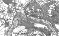 Old Map of Kerne Bridge, 1887 - 1903