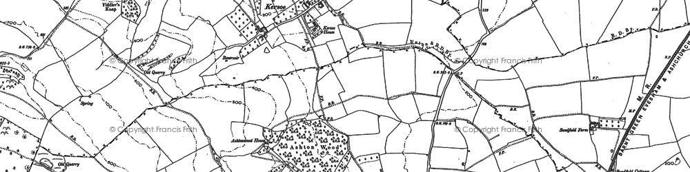 Old map of Ashton Wood in 1884