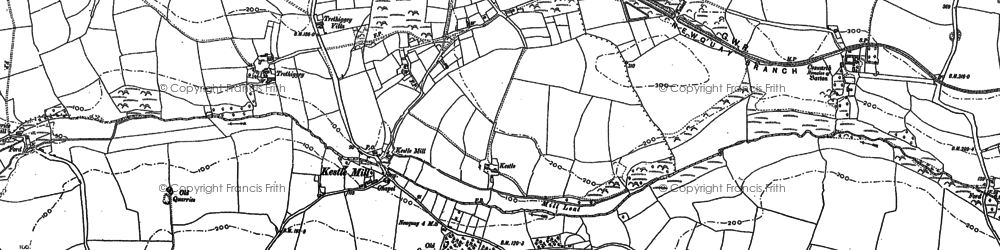 Old map of Kestle Mill in 1880