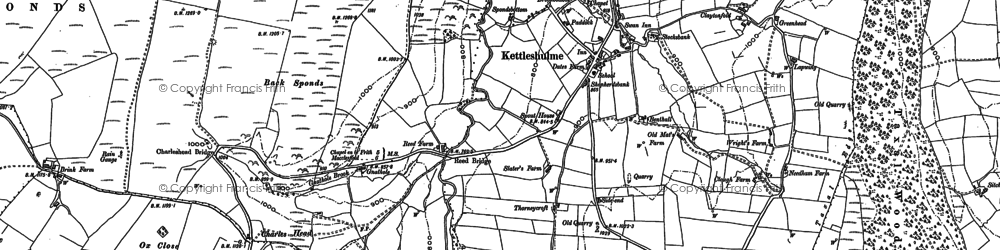 Old map of Windgather Rocks in 1907