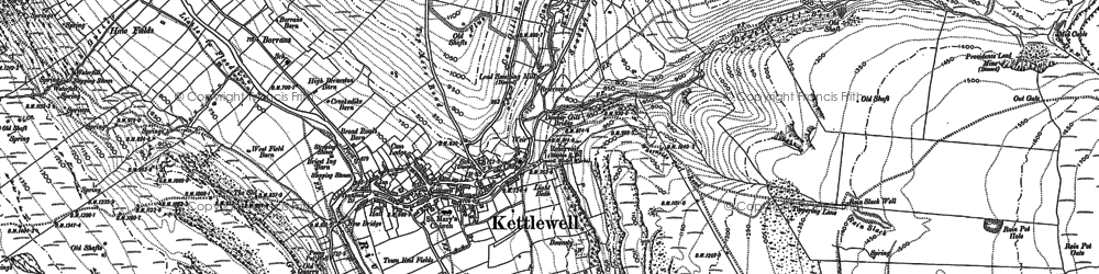 Old map of Wharfedale in 1907