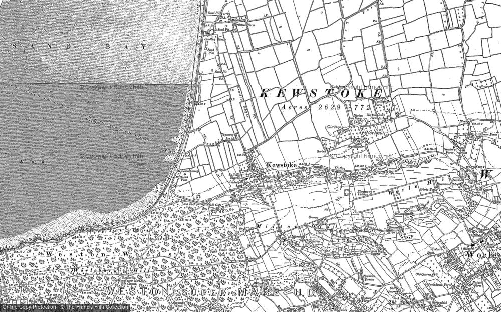 Map of Kewstoke, 1902