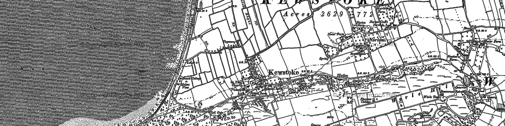 Old map of Kewstoke in 1902