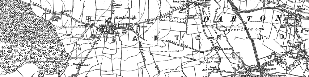 Old map of Kexbrough in 1891