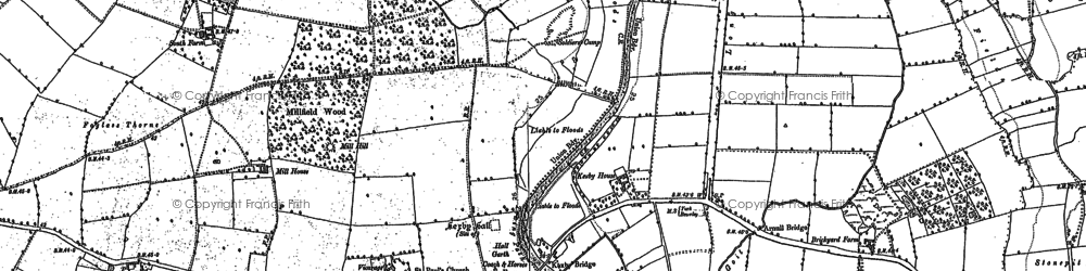 Old map of Kexby in 1891