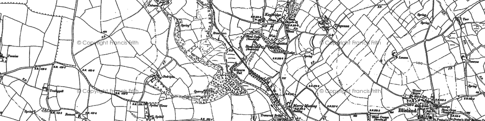 Old map of Keybridge in 1880