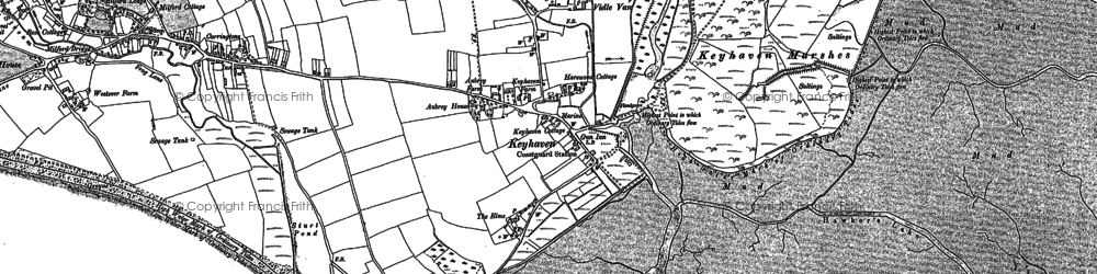 Old map of Aubrey Ho in 1907