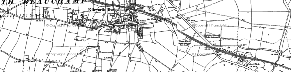 Old map of Kibworth Beauchamp in 1885