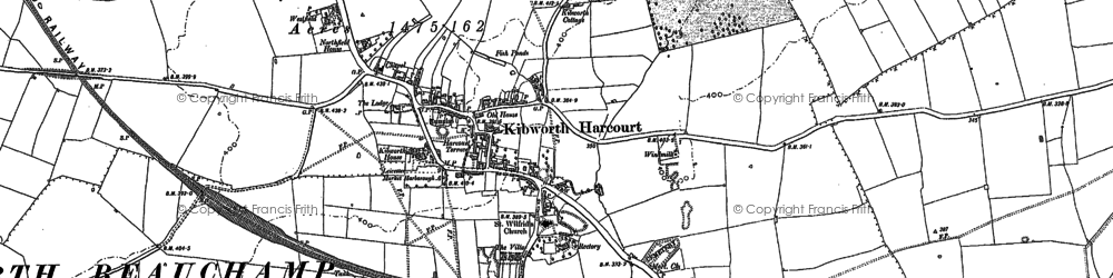 Old map of Kibworth Harcourt in 1885