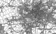Old Map of Kidderminster, 1883