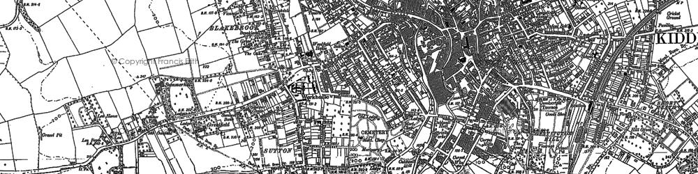 Old map of Kidderminster in 1883