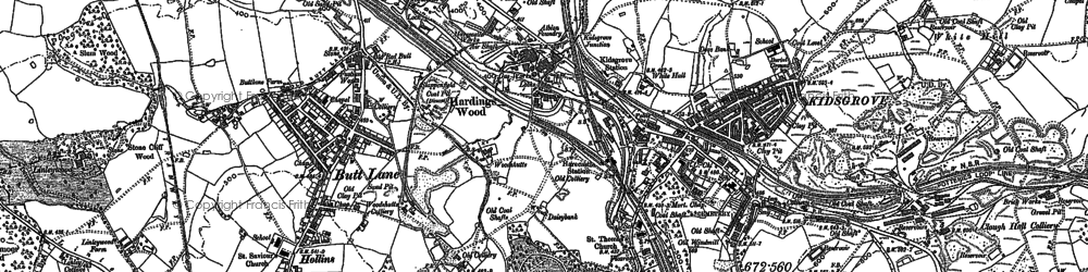 Old map of Whitehill in 1898