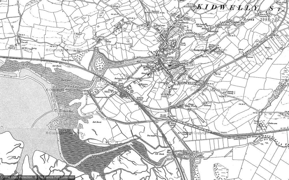 Old Map of Historic Map covering Allt-Cunedda in 1879