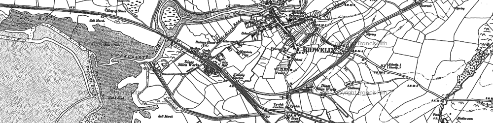 Old map of Allt-Cunedda in 1879
