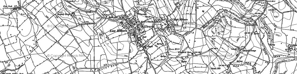 Old map of Kilburn in 1891