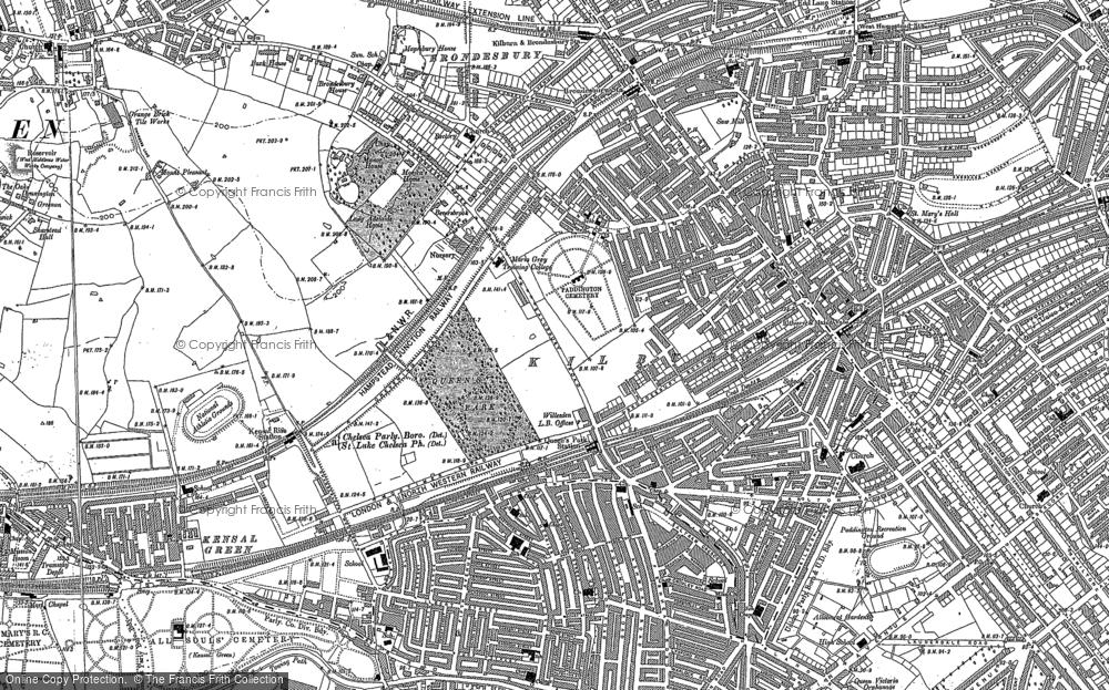 Map of Kilburn, 1894 - 1895