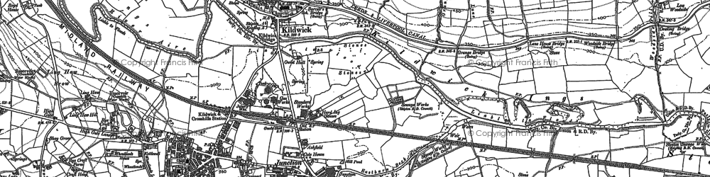 Old map of Woodside in 1889