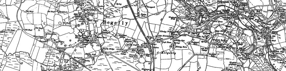 Old map of Kilgetty in 1906