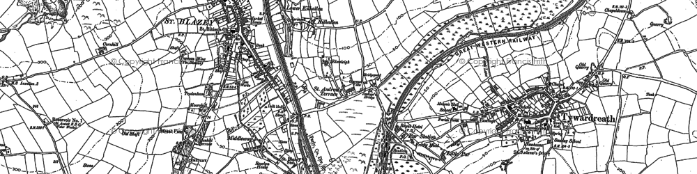 Old map of Kilhallon in 1881